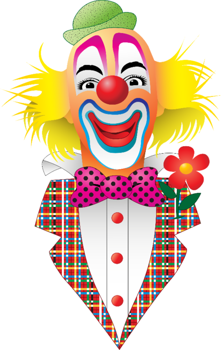 Clown clip art clowns. Fiesta clipart carnival