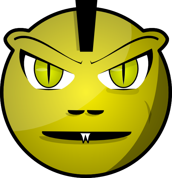 Monster clipart monster face. Scary clip art at