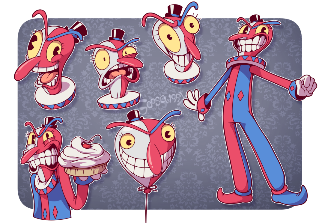 Beppi the by gooseworx. Clown clipart tall clown