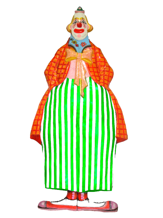 Clown clipart tall clown. Display mould fully painted