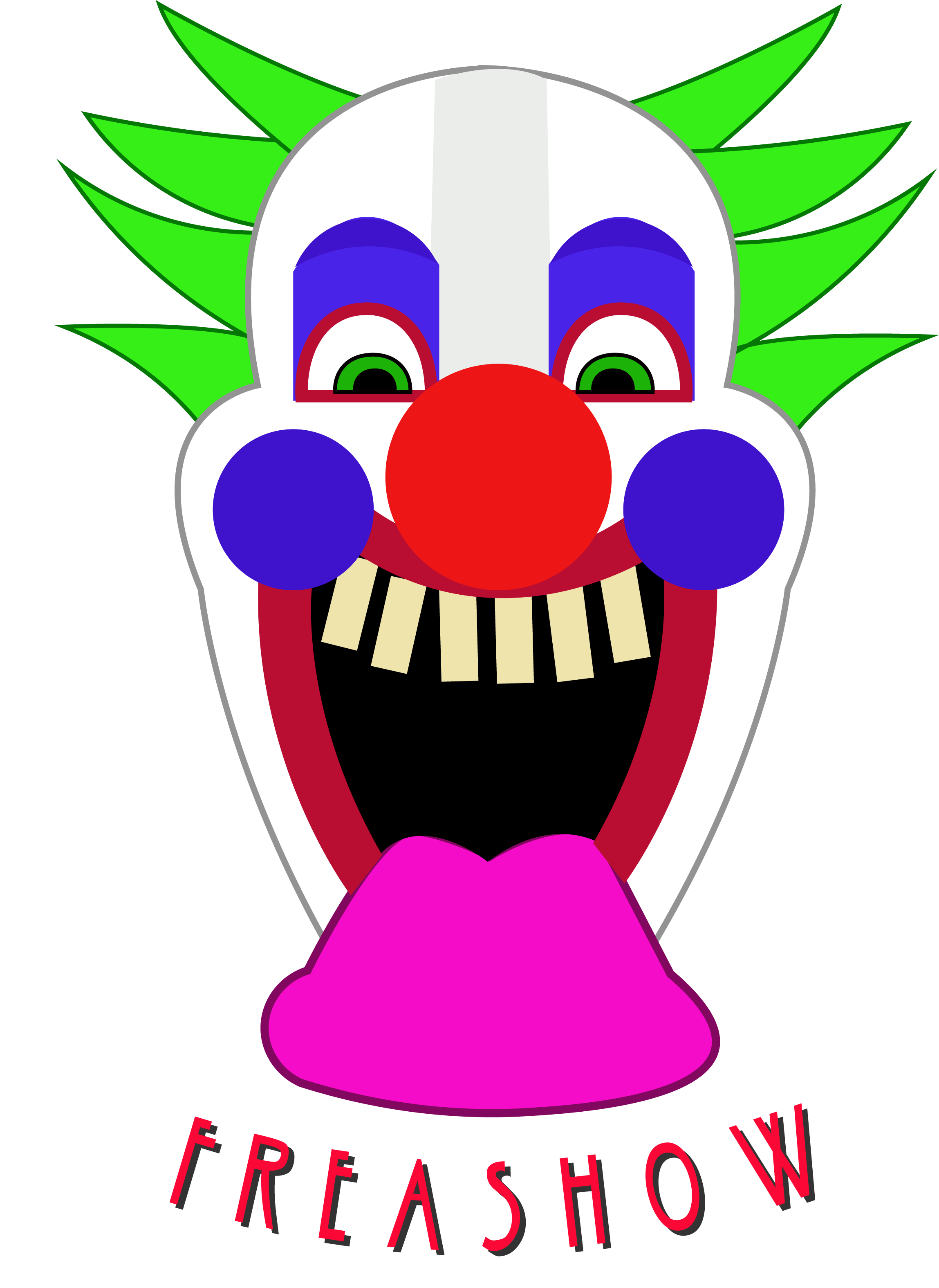 Clown clipart thin. Freakshow forgehub note