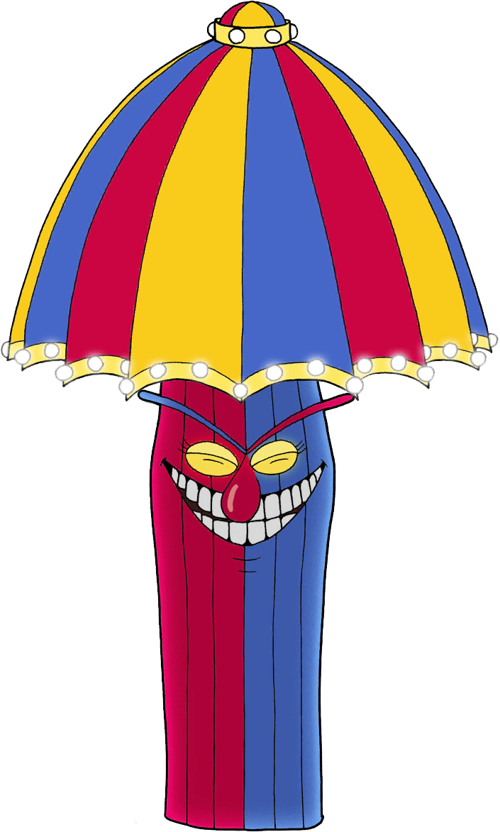 Clown clipart thin. Beppi the cuphead wiki