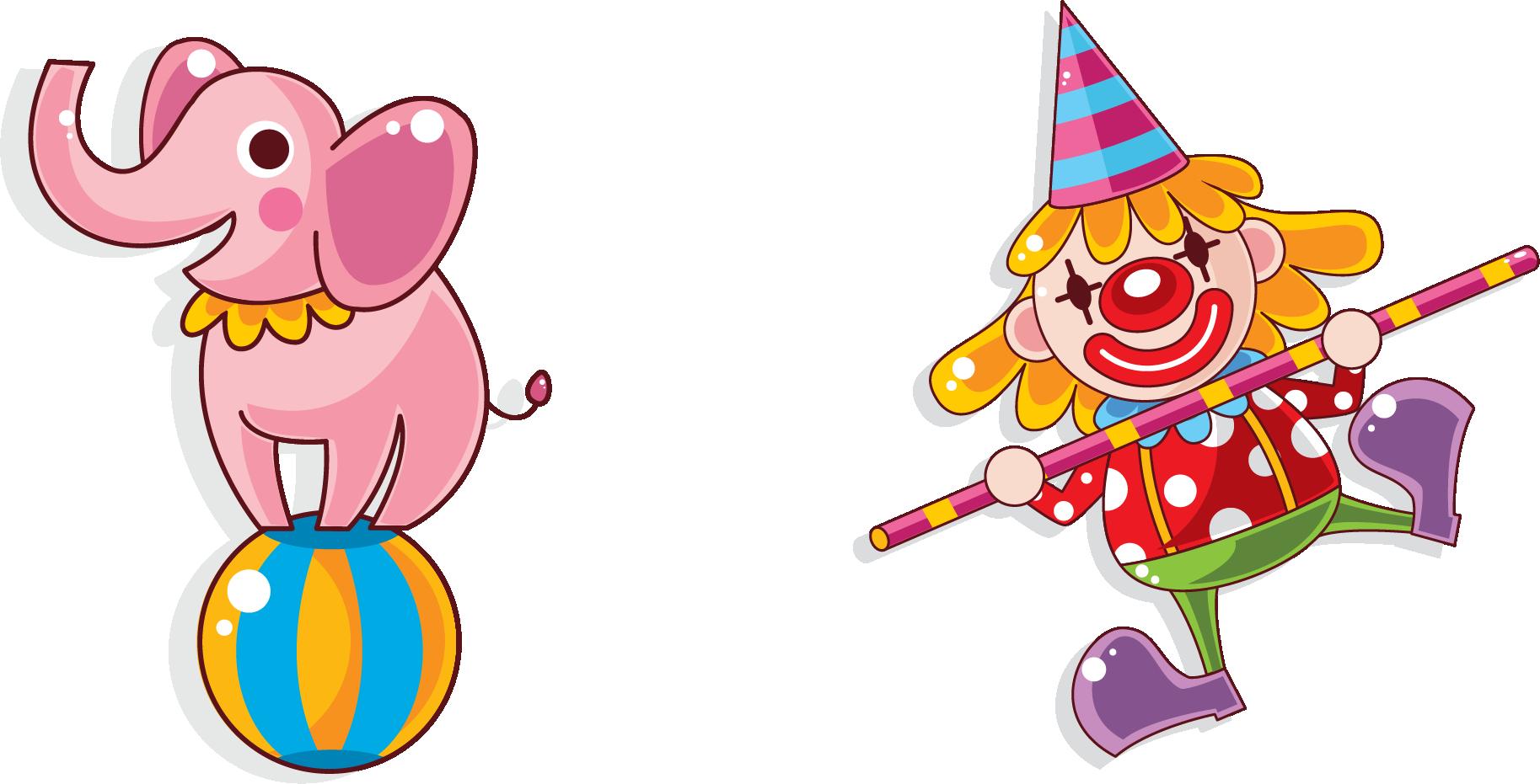Clown clipart trapeze artist. Sticker circus illustration cartoon