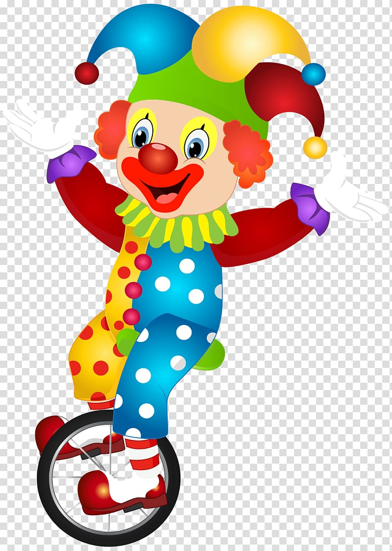 Riding unicycle illustration cute. Clown clipart two