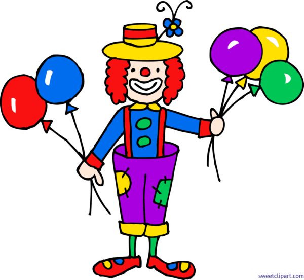 Sweet clip art page. Clown clipart two