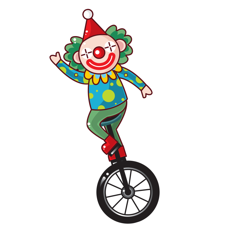 Clip art transprent png. Clown clipart unicycle