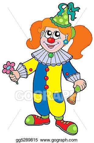 Clown clipart woman. Drawing cartoon girl gg