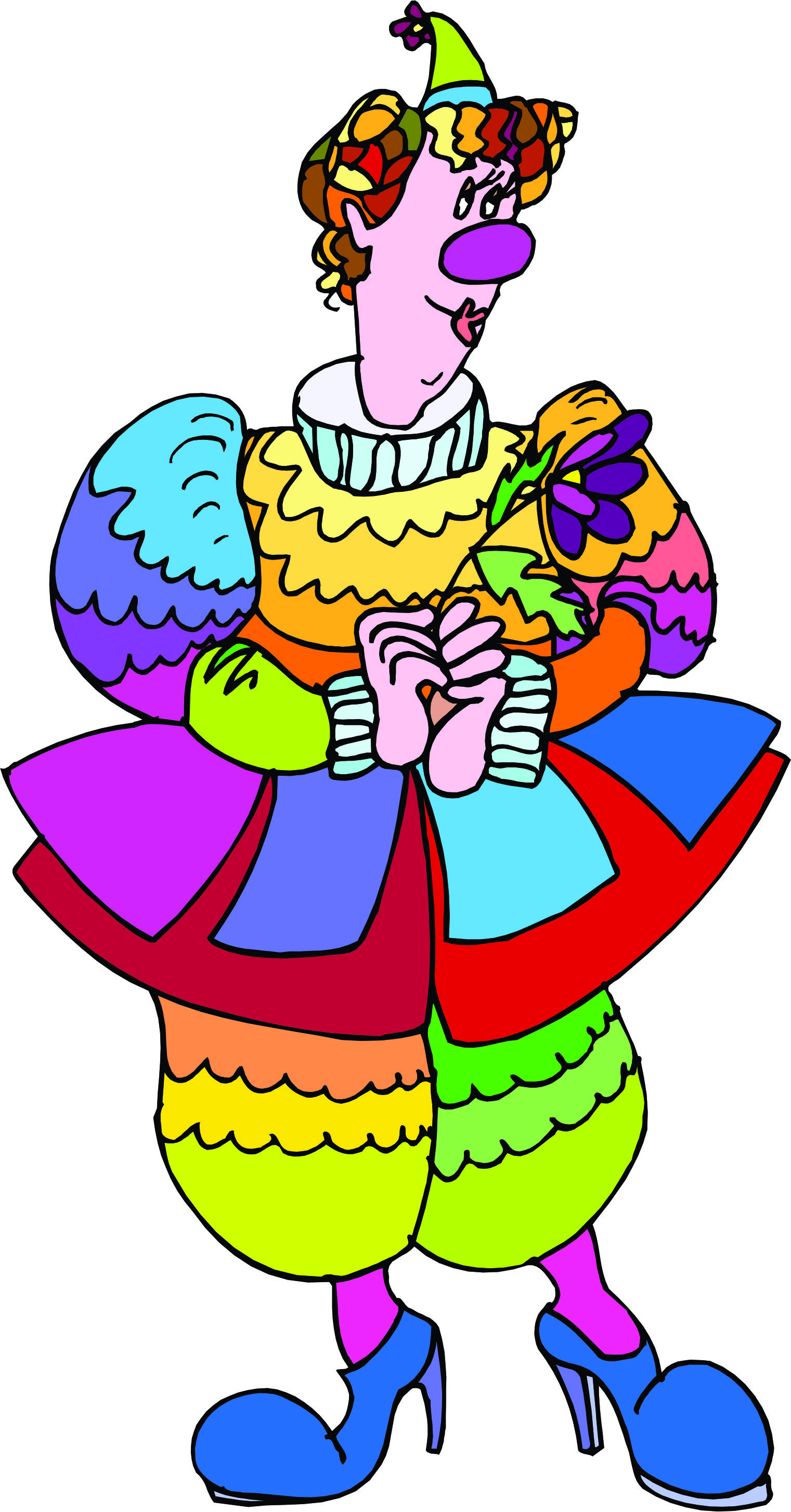 Free lady cliparts download. Clown clipart woman