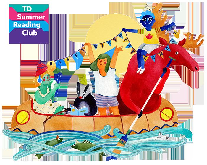 Summer club clarington public. English clipart reading challenge