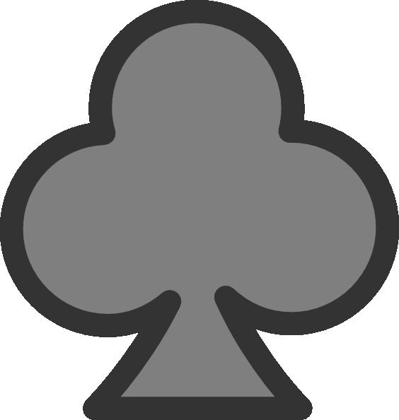 Gray clip art at. Club clipart card symbol