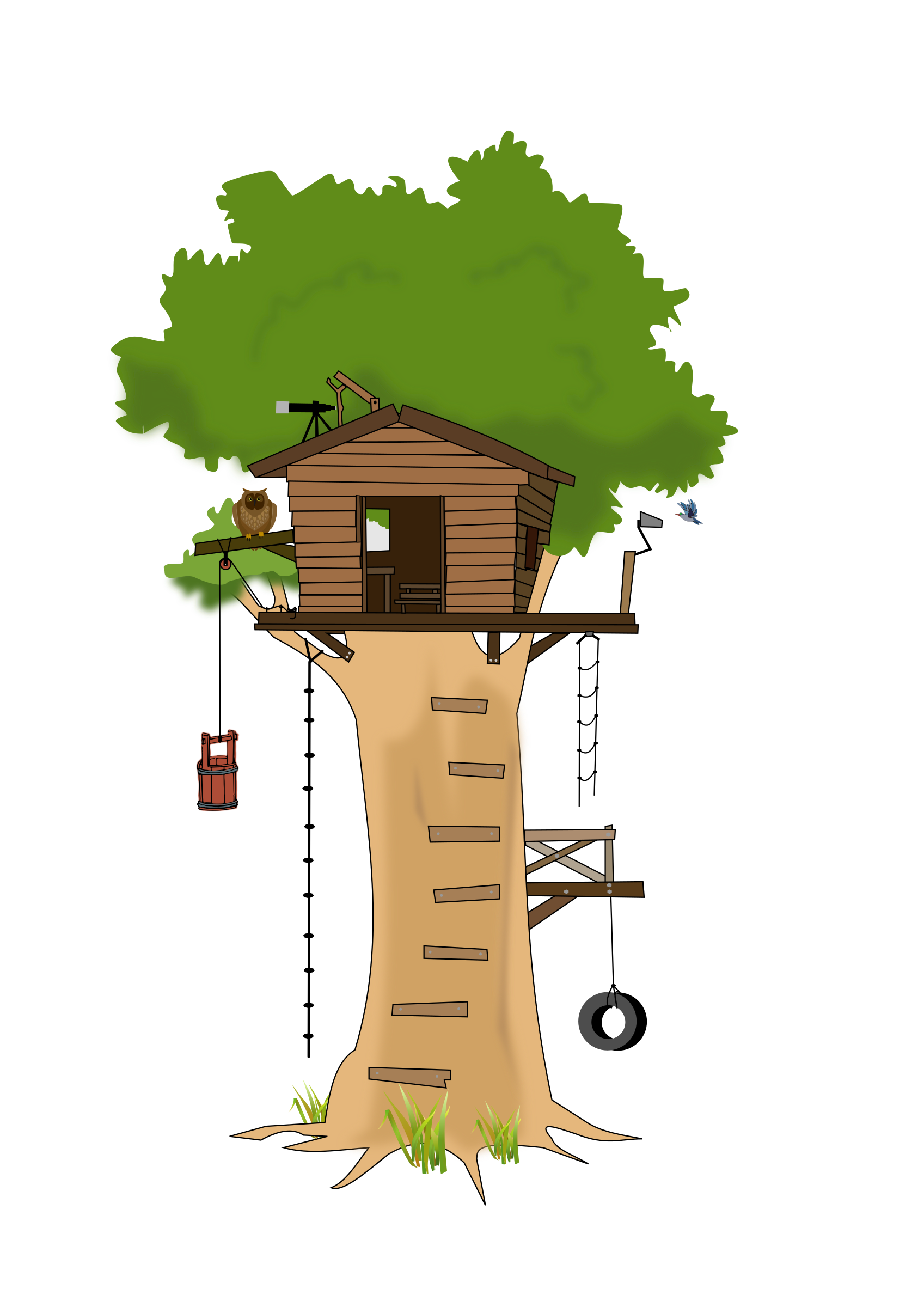 Club clipart cartoon. Tree house big image
