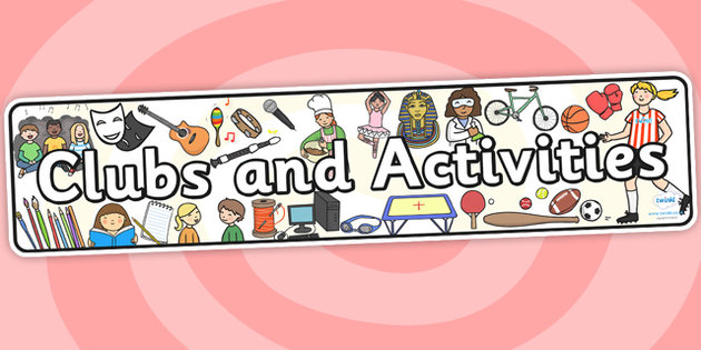 Clubs directory . Club clipart club activity