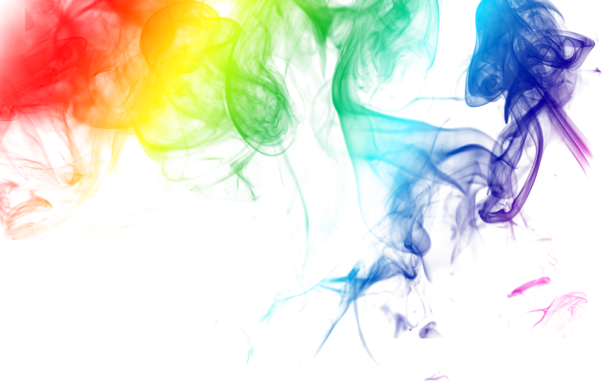 Rainbow smoke png. Colored transparent pictures free