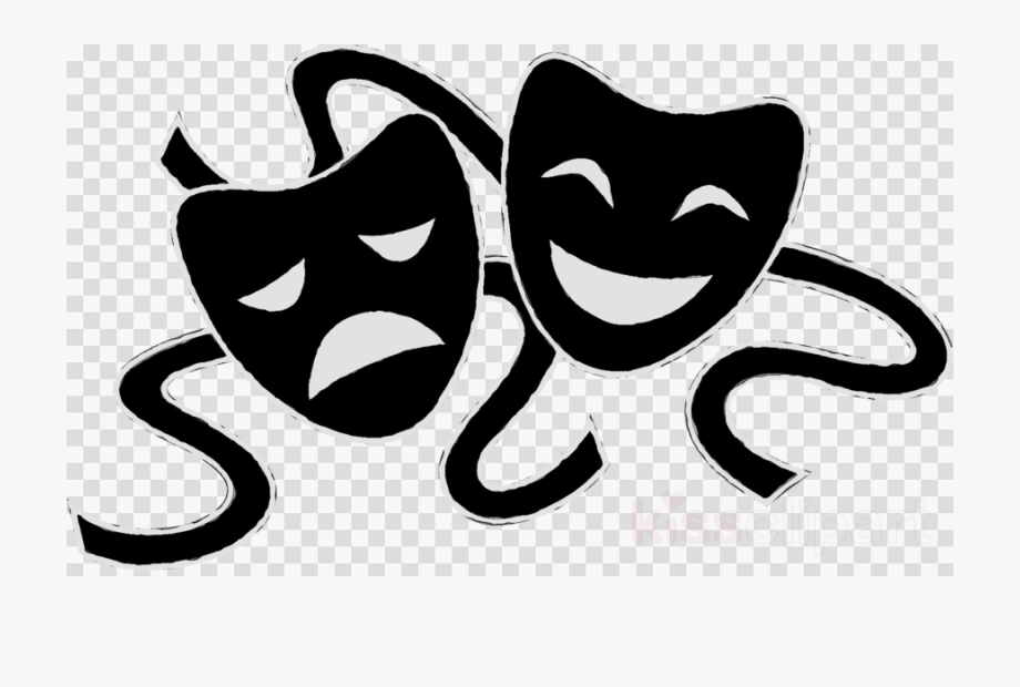 Theatre theater mask png. Club clipart creative drama