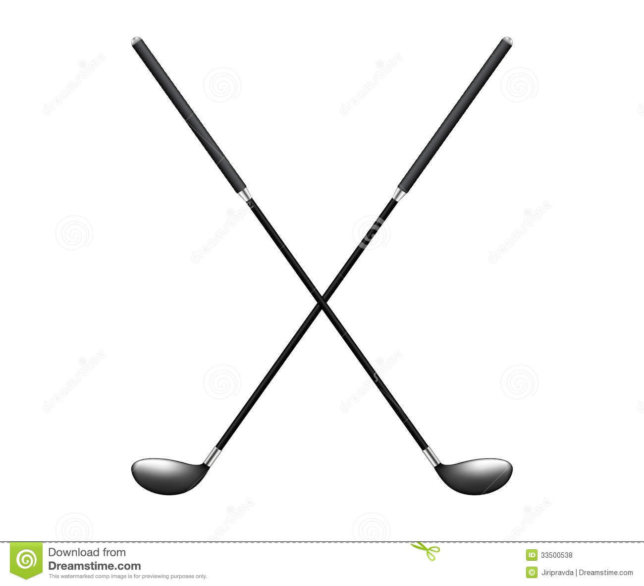 Golf clipart crossed golf club. Clubs with ball library