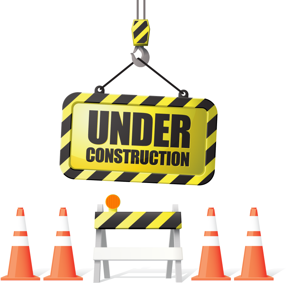 Contractor clipart sad. Under construction sign in
