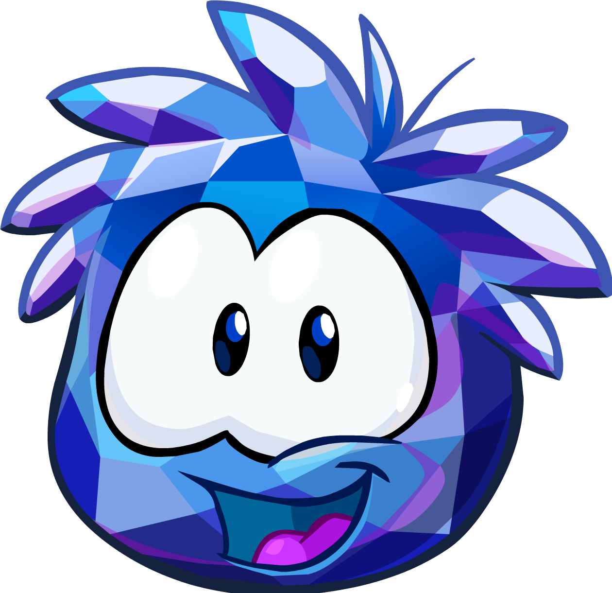 Crystal clipart blue crystal. Puffle club penguin wiki