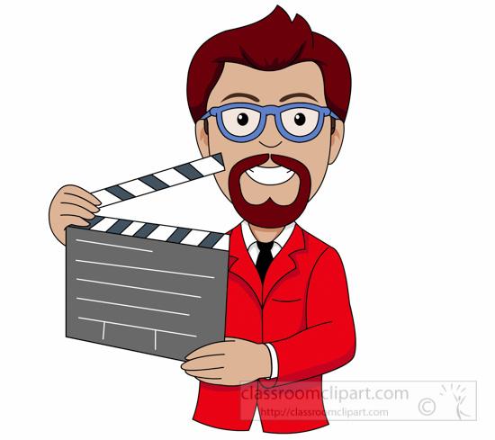 Movie clipart movie director. Drama club free download