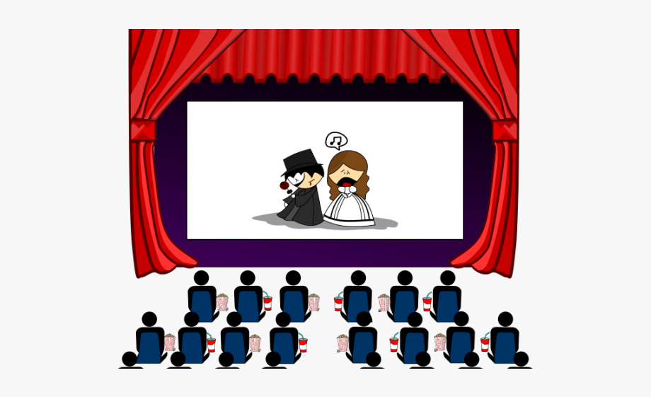 Theater free . Club clipart drama movie
