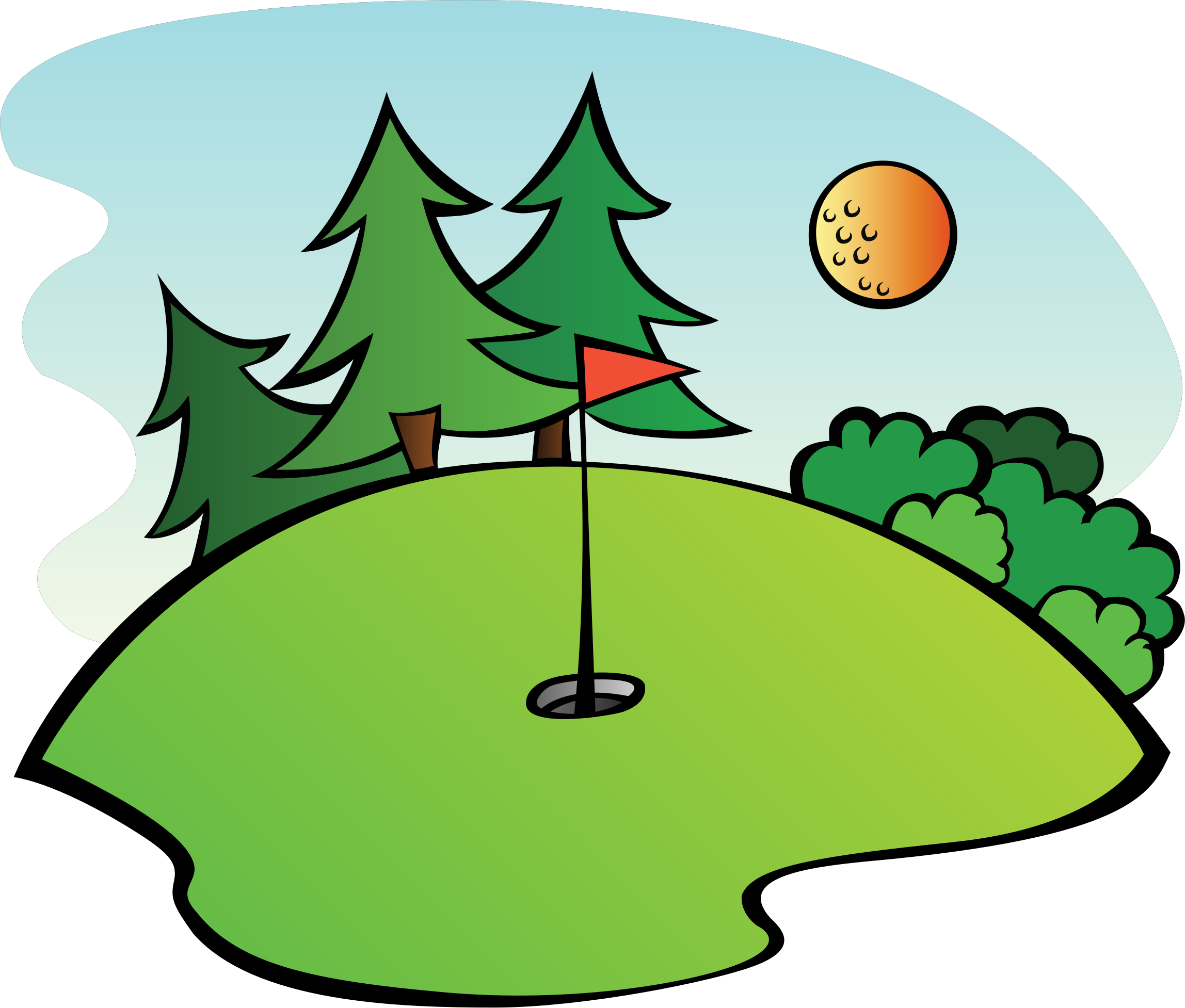 Course icons png free. Golf clipart golf scene