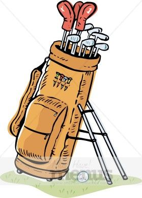 Golfer clipart golf bag. Embroidery clip art bags