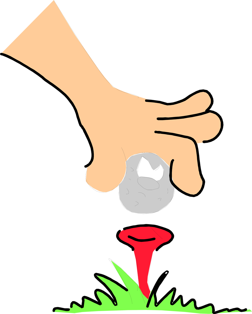 Ball illustration of an. Golf clipart free stock photo
