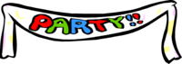 Club clipart party. Banner acur lunamedia co