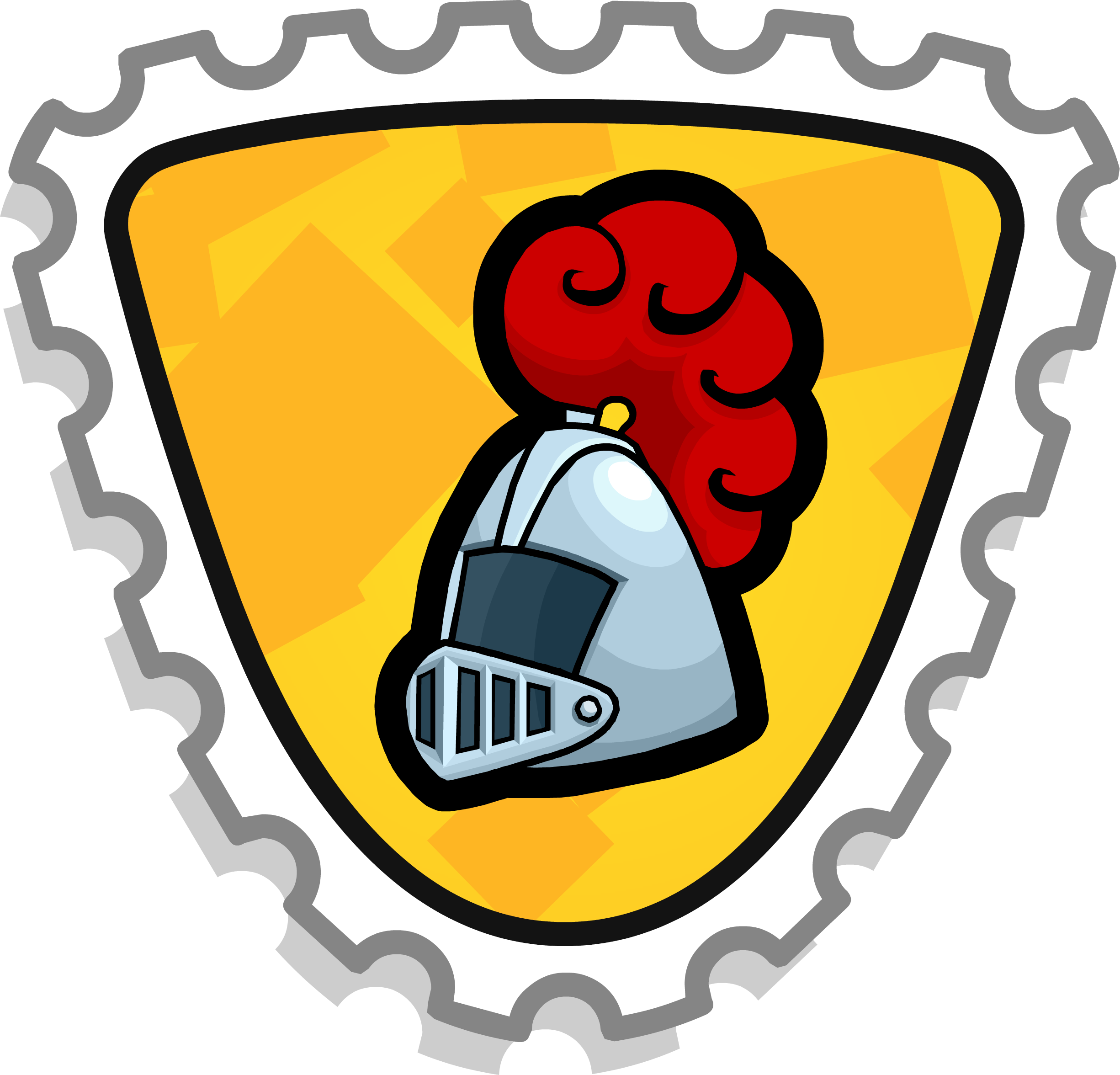 Stamp clipart secret. Noble knight club penguin