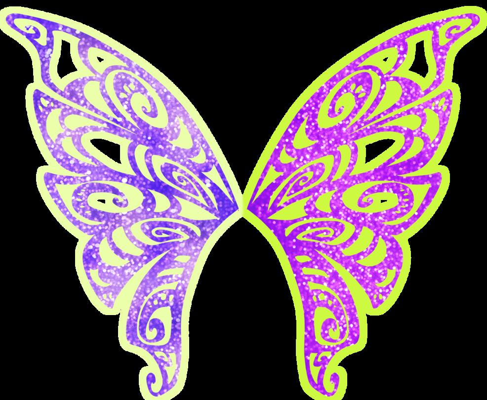 Club clipart purple shape. Tecna butterflix wings by