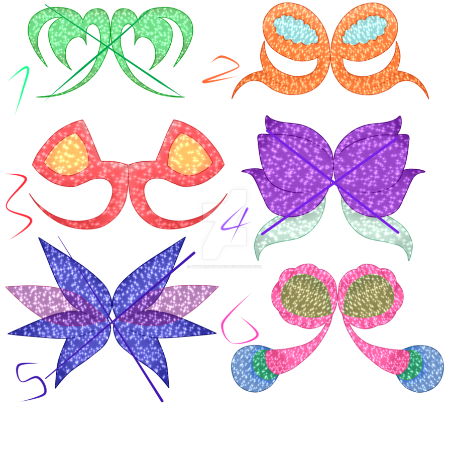Winx wing adoptables by. Club clipart purple shape