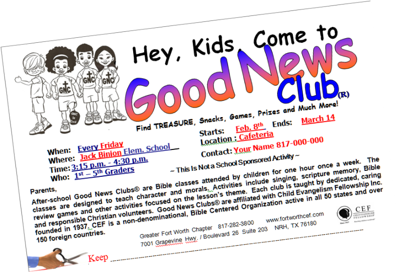 The good news endangering. Game clipart school club