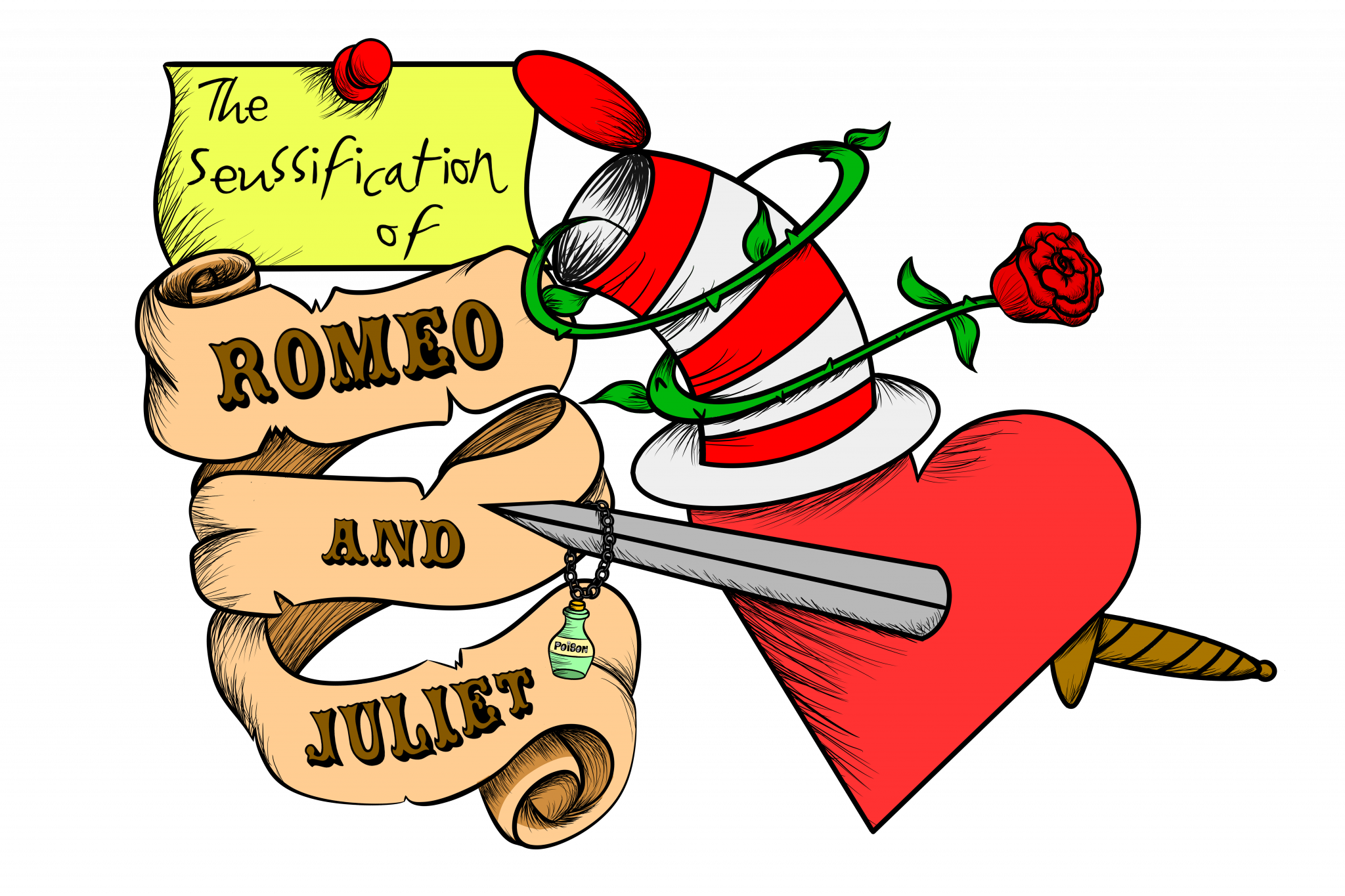 Seussification of romeo and. E clipart script