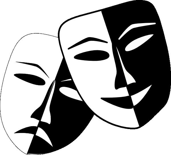Theatre masks clip art. Mask clipart symbol