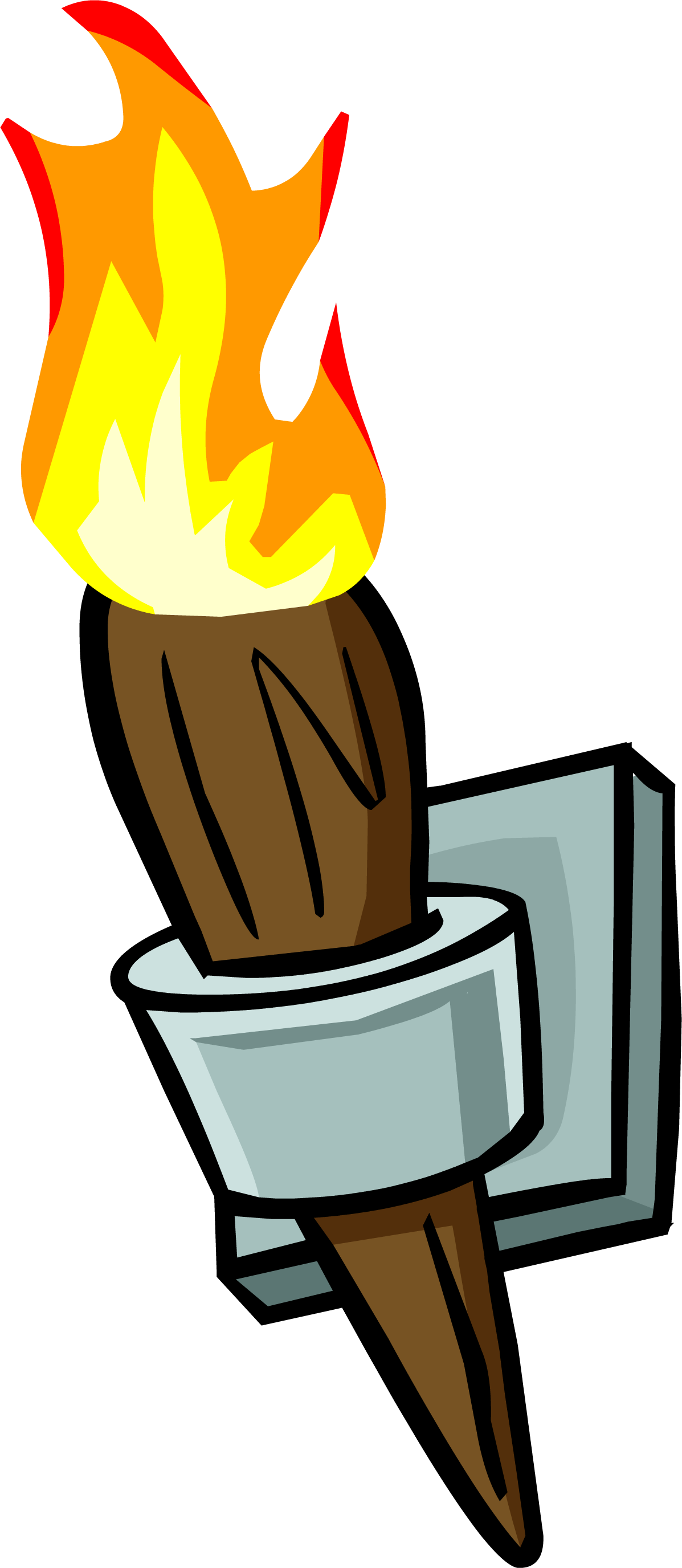 Image wall torch sprite. Flashlight clipart cute