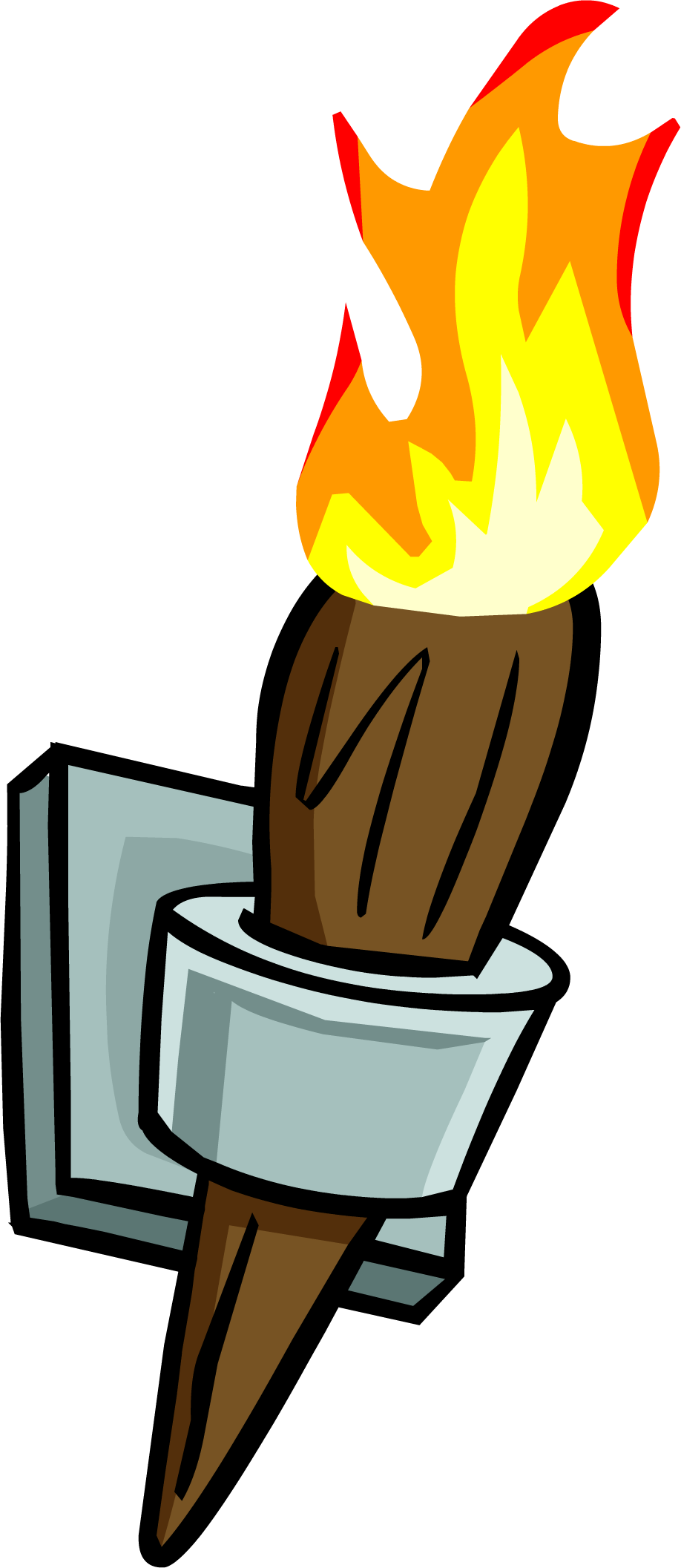 Club clipart torch. Image wall png penguin