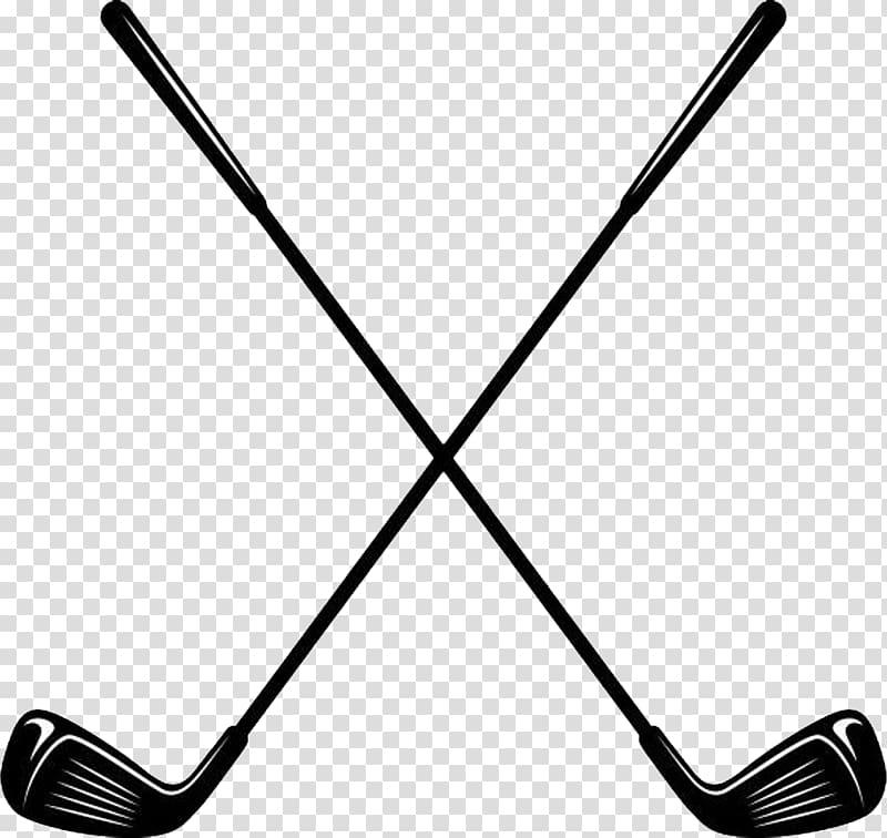 Golf clubs iron putter. Club clipart transparent background