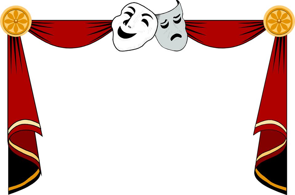 Club theater play free. Curtains clipart empty stage