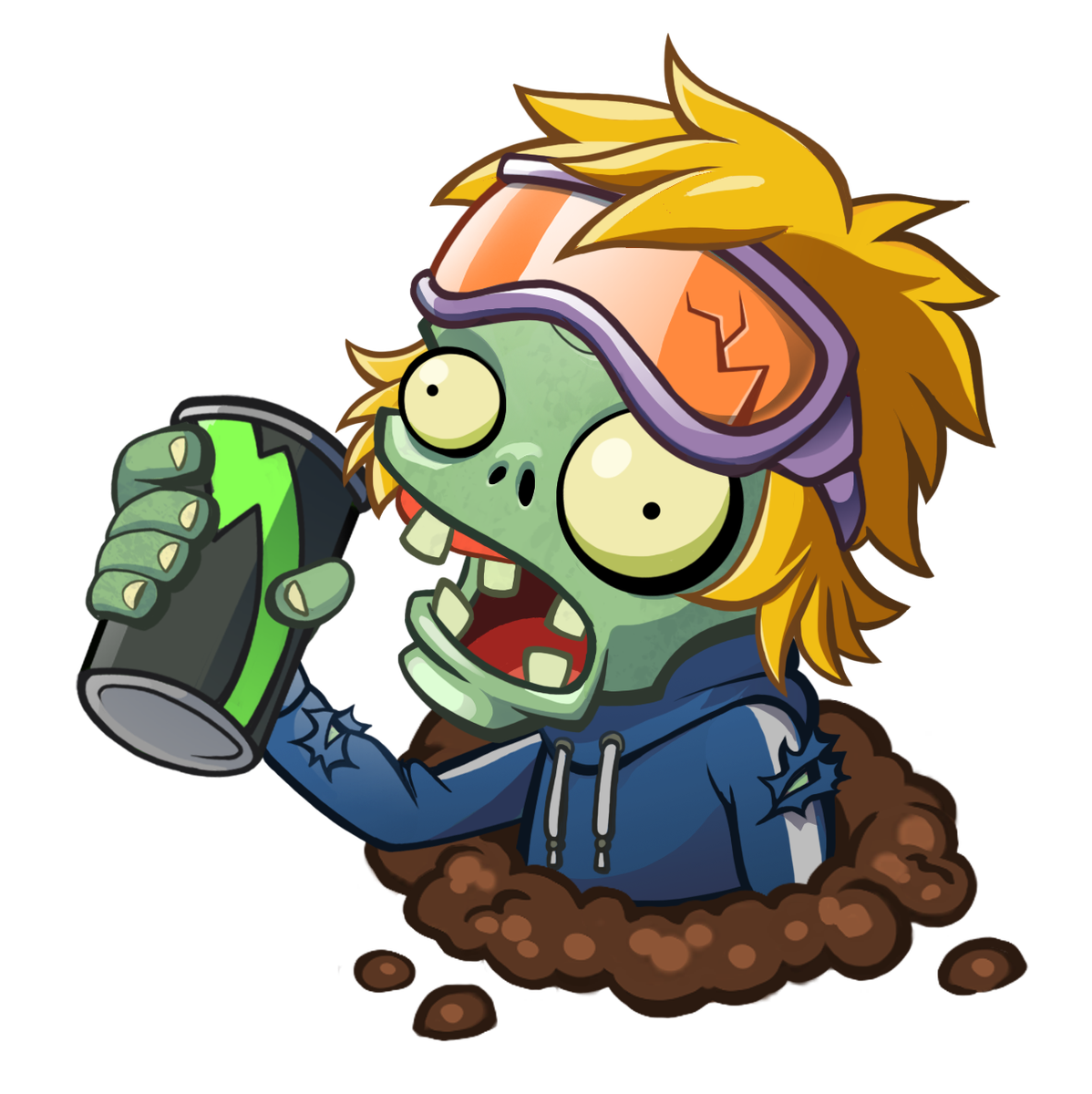 Drink zombie plants vs. Excited clipart full energy