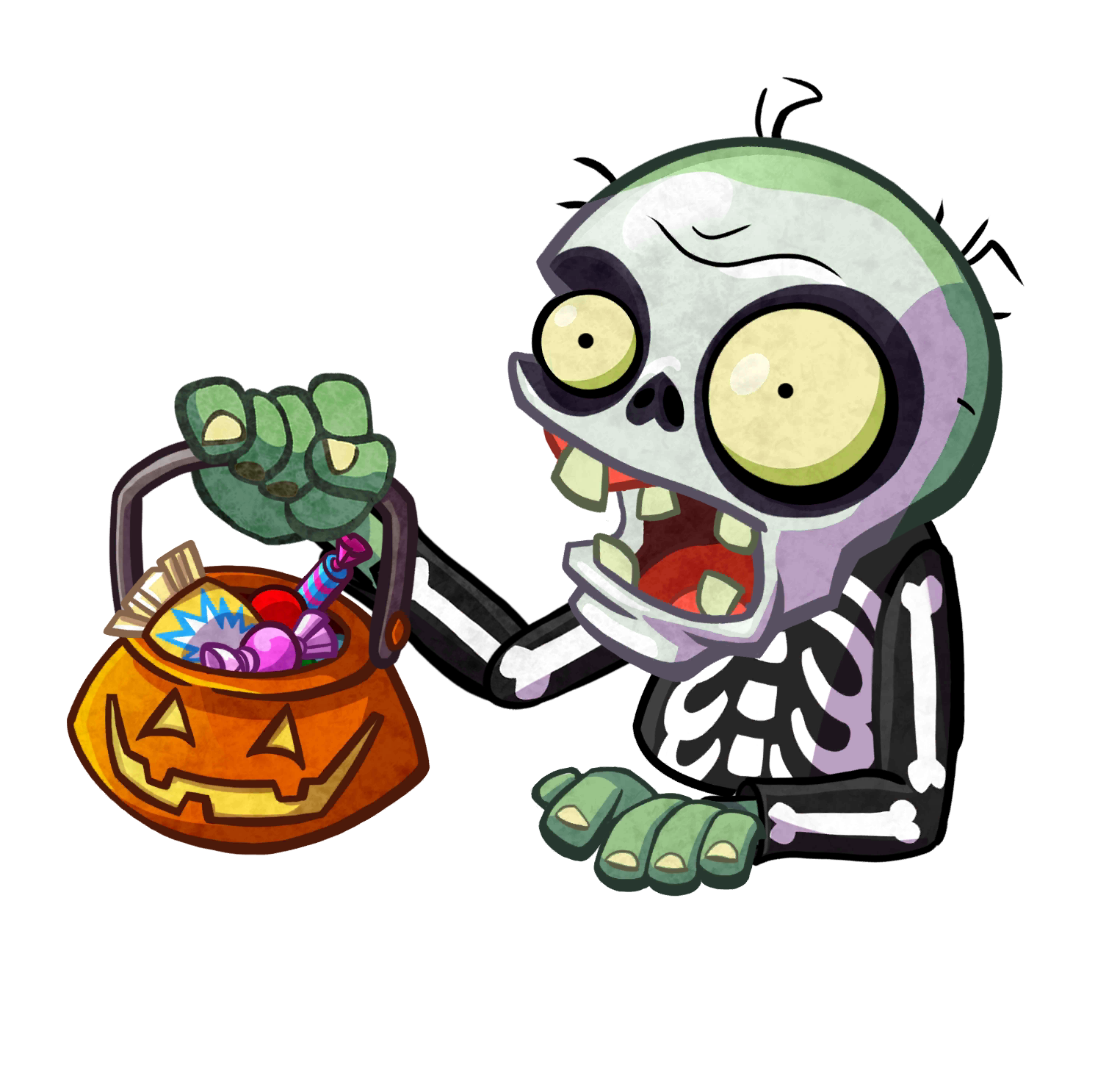 Trick or treater plants. Skeleton clipart dancing zombie