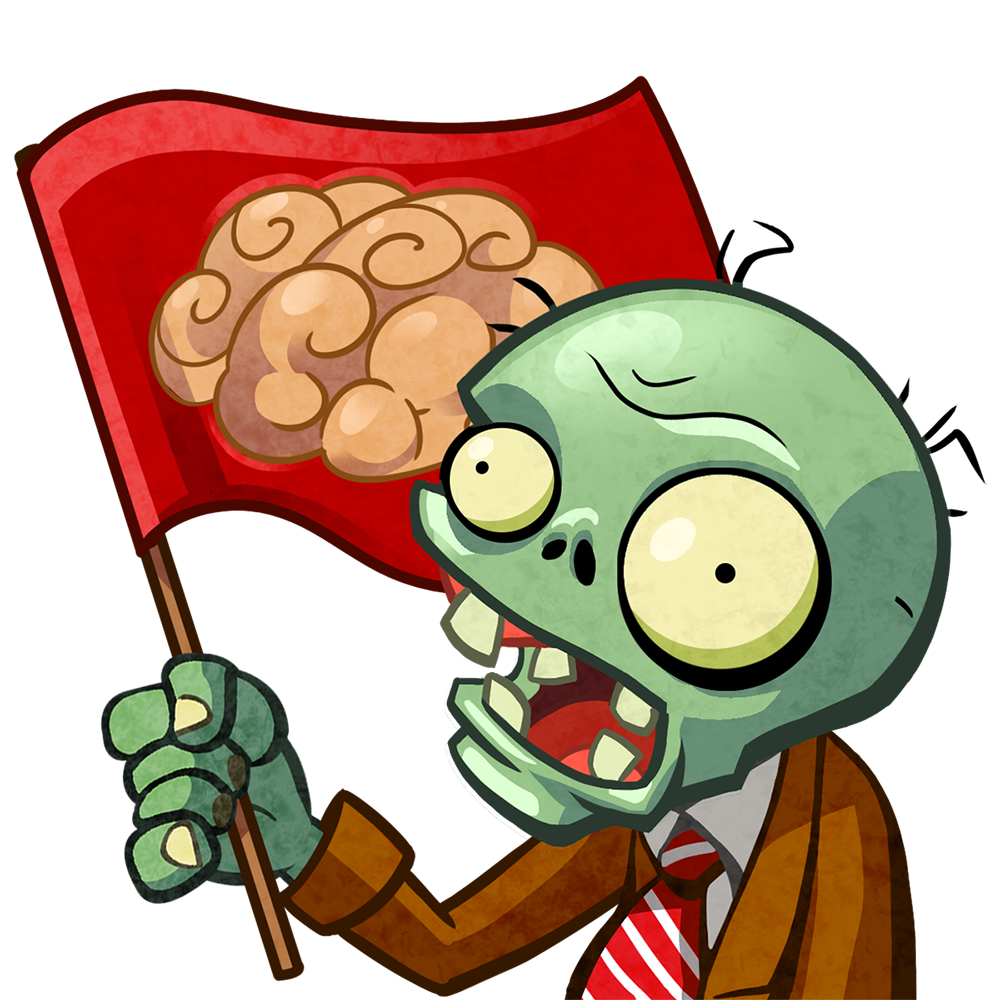 Zombie clipart zombie nurse. Flag plants vs zombies