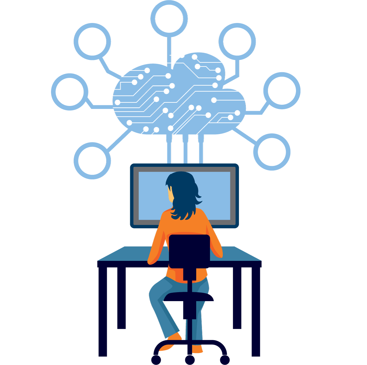 Support solutions crm bpo. Technology clipart technical