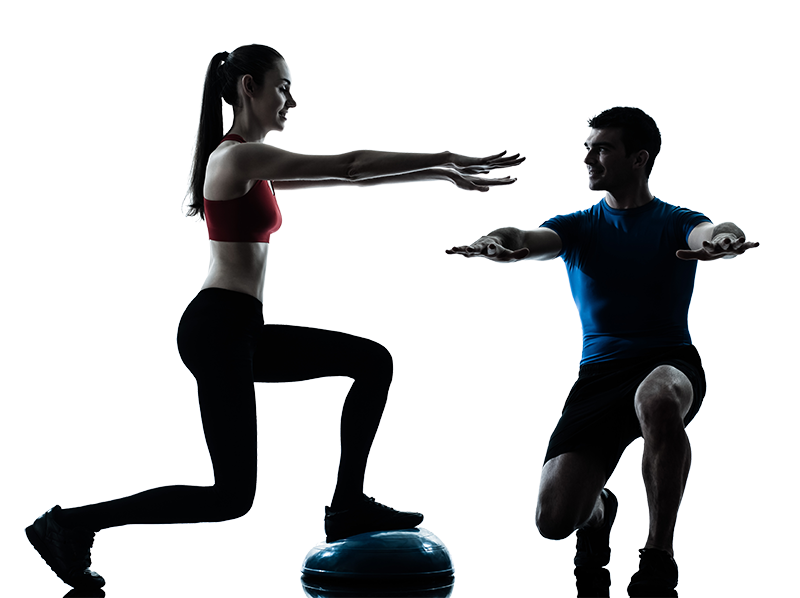 Personal physical exercise weight. Exercising clipart fitness trainer