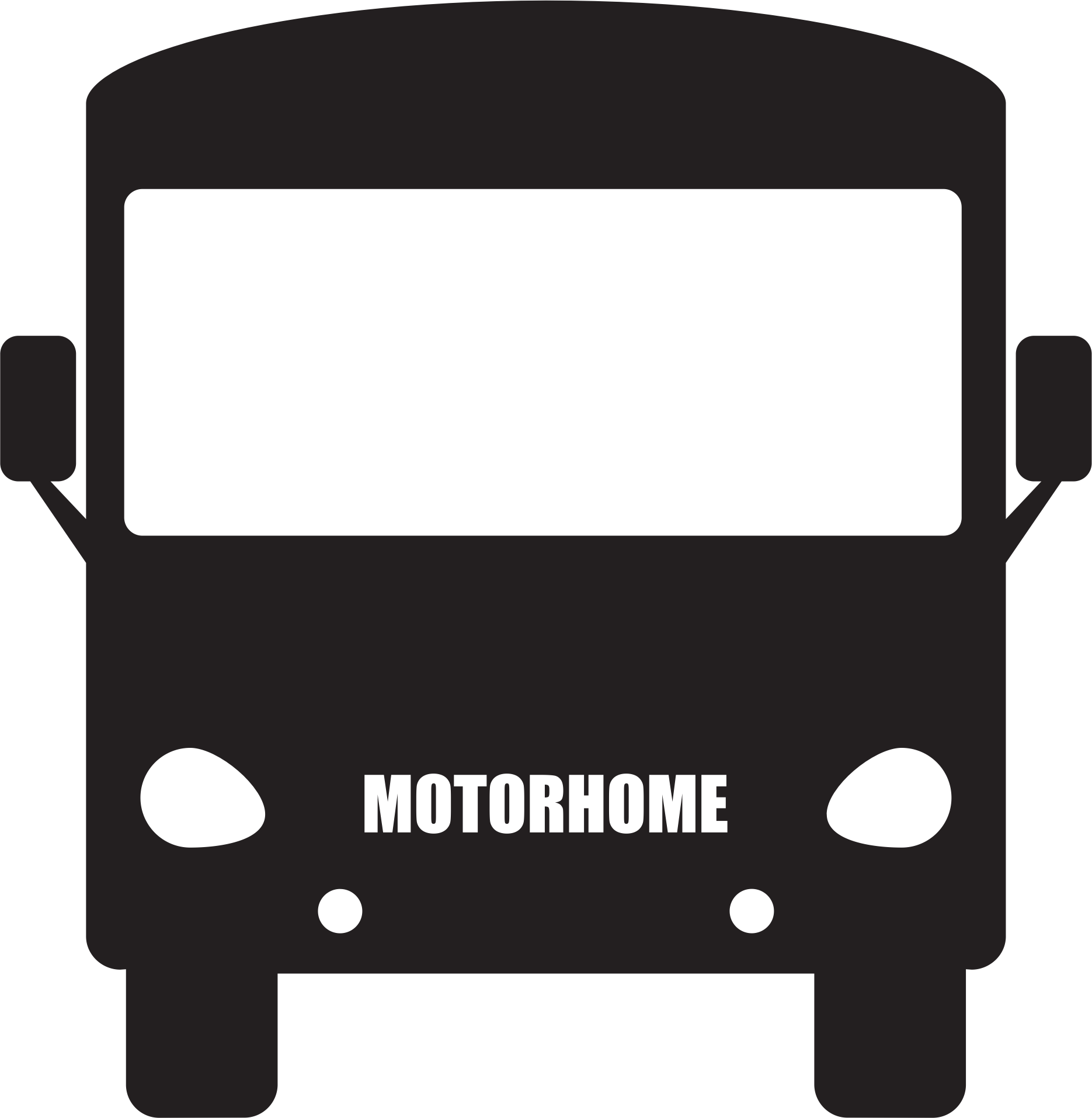 Coach clipart motor coach. Motorhome silhouette big image