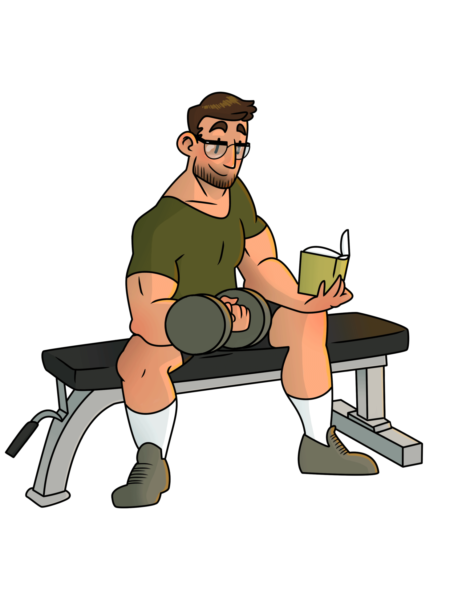 Train at the a. Gym clipart athlete