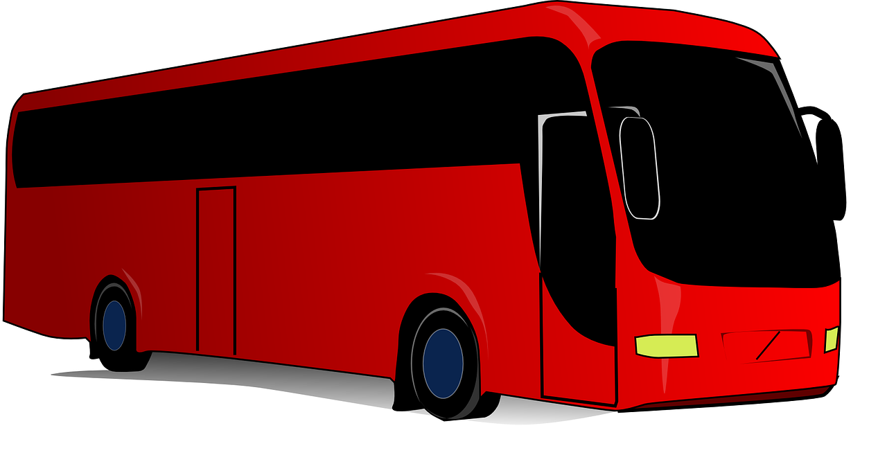 Travel coach red transport. Tickets clipart bus ticket