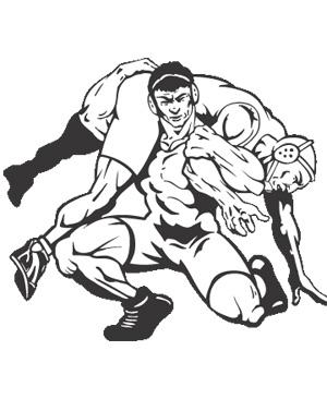 Wrestlers clipart wrestling coach. Clipartix