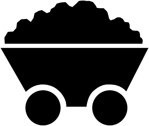 Cart silhouette pinterest silhouettes. Coal clipart