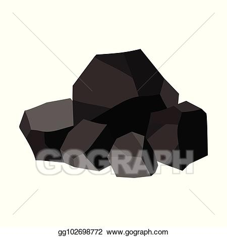 Coal clipart. Vector stock pile of