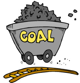 Cart clip art library. Coal clipart animated