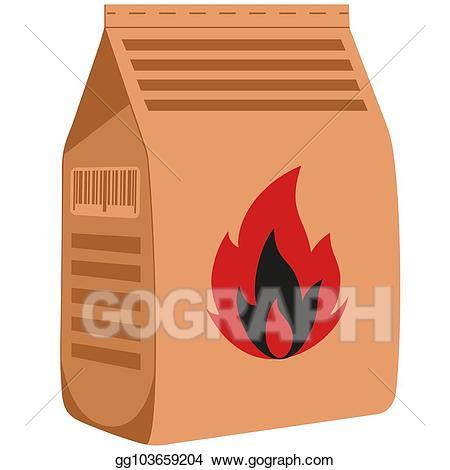 Coal clipart bag coal. Eps illustration colorful cartoon